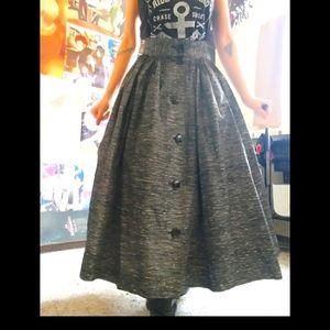 Reitmans vintage high waisted gray button skirt